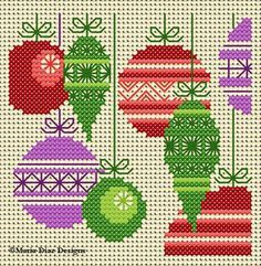 Holiday Ornaments, designed by @Maria Diaz Pallett, from Maria Diaz Designs.