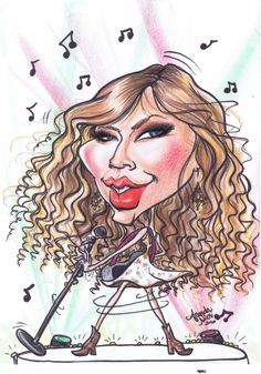 taylor caricatures   Taylor Swift Caricature