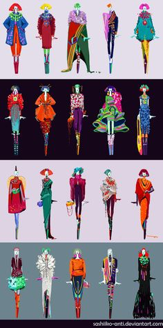 Tibet: First Glance Ideas by Sashiiko-Anti on DeviantArt Fashion Illustration Sketches, Illustration Mode, Fashion Sketchbook, Fashion Design Portfolio, Fashion Design Sketches, Tibet, Fashion Figures, Design Graphique, Technical Drawing