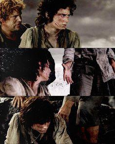 This middle shot is my favorite Sam moment. He has been Hope Unquenchable this whole time but here he admits there won't be a road home. This is the moment: he then immediately offers his hand and they continue on. Love both of them for their shining examples of perseverance!
