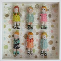 Doll Shadowbox--I have some miniature antique bisque dolls I inherited from my cousin and I've been at a loss as how to display them