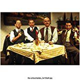 #8: The Untouchables (1987) 8x10 Photo Sean Connery Kevin Costner Andy Garcia & Charles Martin Smith Seated at Table kn
