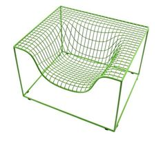 """GRID"" // Design: Komplot // Grid is a striking geometric armchair crafted from strands of powdercoated steel. // http://www.nola.se/sv/produkter/nyheter-2010/grid?image=838=2"