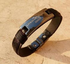 Leather Accessories, Leather Jewelry, Fashion Accessories, Cool Mens Bracelets, Fashion Bracelets, Leather Cuffs, Leather Men, Stylish Jewelry, Leather Working