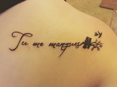 """Miscarriage tattoo I created with my artist. Quote translates to """"you are missing from me"""" in French. One bird flying away for each baby lost. This brings me so much closure and I hope it helps others too ♥️ it's been a rough year"""