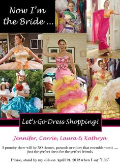 27 Dresses  Personalized Bridesmaid Card by soireebydesign on Etsy, $1.50