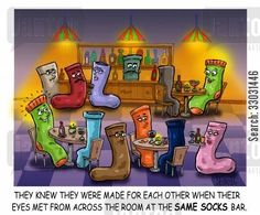 Matching Socks funny cartoons from CartoonStock directory - the world's largest on-line collection of cartoons and comics. Funny Cartoons, Funny Comics, Online Social Networks, Funny Socks, Comic Strips, Comebacks, Bowser, Worlds Largest, Mario