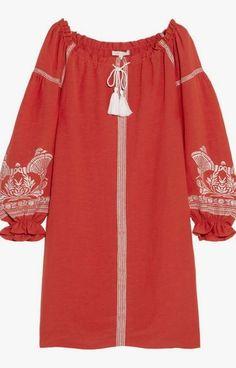 Sea embroidered crepe minidress, $410.