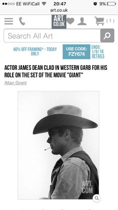 James Dean profile from Giant Art.co.uk