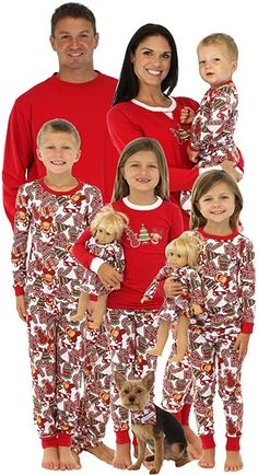02e9d29537 Family Christmas pajamas with gingerbread men! Family Pajama Sets