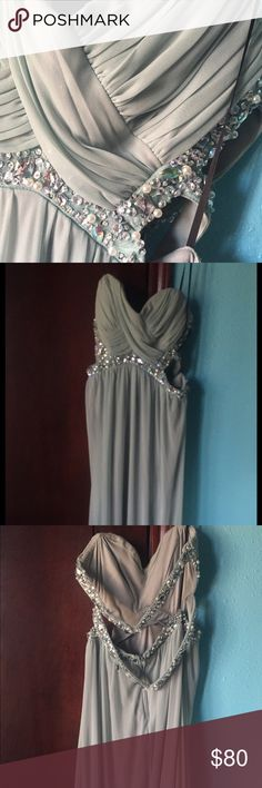 Seafoam long prom dress! 👗 Never worn! Bought with missing one hook/clasp on strap on the back but easily fixable! Please send offer or ask questions if interested! :) Dresses