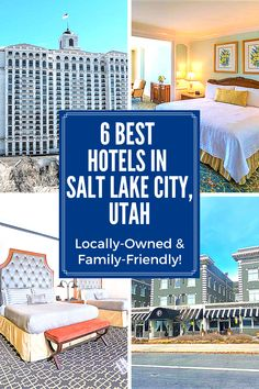 Plan a family vacation to Salt Lake City, Utah! Stay in one of these 6 best locally-owned and family-friendly hotels | Mariah French Us Travel Destinations, Best Places To Travel, Places To Go, Great Places, Motorhome Travels, Utah Vacation, Salt Lake City Utah, Travel Inspiration, Travel Ideas