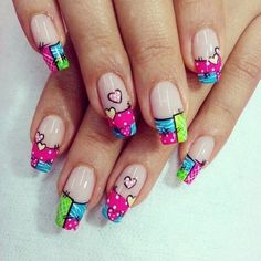 Unha Decorada Festa Junina 40 Ideias para Agitar o Arraiar da Unhas Simple Nail Art Designs, Toe Nail Designs, New Nail Art, Easy Nail Art, Stiletto Nails, Gel Nails, Nagellack Design, Work Nails, Nails For Kids