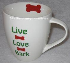 Live Love Bark coffee mug