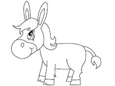 this section includes enjoyable colouring free printable homework donkey coloring pages and worksheets for every age these are suitable for preschool - Donkey Coloring Page