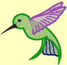 This free machine embroidery design from Craftsy is a Hummingbird.  Enjoy!