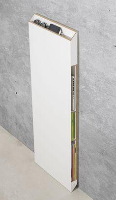 alTar. storage / concealment for iPad, MacBook, iPhone, cords, magazines... Ideal for narrow hallways Design: www.michaelhilgers.de