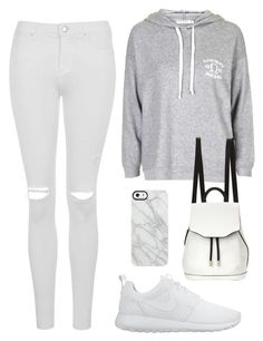 """Untitled #1603"" by susannem ❤ liked on Polyvore featuring Topshop, NIKE, rag & bone and Uncommon"