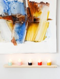 How To: Colorful DIY Wall Mounted Votive Set