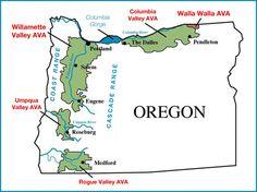 oregon wine regions map | Oregon Wine Willamette Valley Map