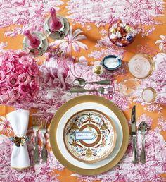 pink & orange table (LOVE)