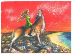 Painting print Women Who Run with the Wolves by SpiritwalkerArts