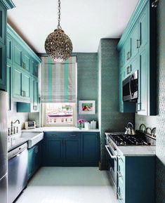 Teal kitchen cabinets have become the brand new go-to for homeowners and designers. Check these 23 teal kitchen cabinet ideas and images! Home Interior, Interior Design Kitchen, Home Design, Design Ideas, Kitchen Designs, Design Inspiration, Color Interior, Interior Decorating, Decorating Ideas