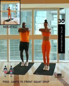 Fitness Workouts, Fitness Herausforderungen, Full Body Hiit Workout, Hiit Workout At Home, Gym Workout Videos, Gym Workout For Beginners, Fitness Workout For Women, Butt Workout, Fitness Goals