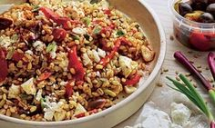 Yotam Ottolenghi's Farro and roasted red pepper salad.