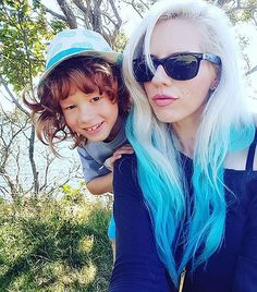 @lolalydon maintains her #rad locks with #AtomicTurquoise  mixed with a bit of #RockabillyBlue and uses our #VirginSnow  to keep her blonde locks white  and bright!