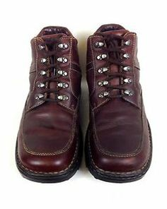 Born Shoes Leather Brown Comfort Lace Up Ankle Boots Hiking Mens Trail 10 5 M   eBay