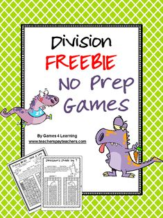 Yay! I have finally completed my set of No Prep Math Games with the division games and multiplication games now ready! Remember - al... #mathgames