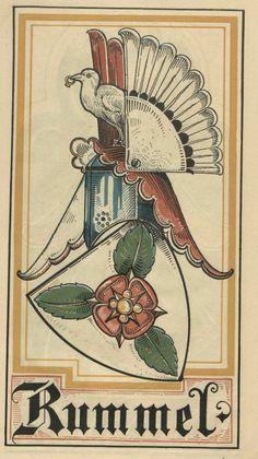 von Rummel (German) -- Baltischer Wappen-Calendar 1902 (Baltic States Coats of Arms Calendar) published in Riga by E Bruhns with illustrations by M. Kortmann.