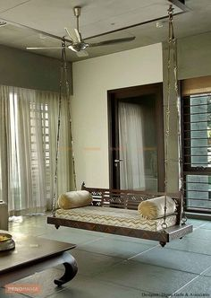 Indian Handmade Love Seat Wooden Ceiling Swing With Metal Chain & Cushion Cover … – Indian Living Rooms Indian Home Interior, Indian Home Decor, Home Interior Design, Interior Balcony, Simple Interior, Home Decor Furniture, Living Room Furniture, Furniture Design, Wooden Furniture