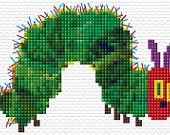 We think this cross stitch of the Very Hungry Caterpillar would be adorable on a kid's t-shirt