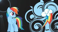 Rainbow dash swirl and shine wallpaper