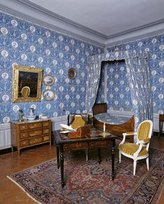 French bedroom of author George Sand in Nohant