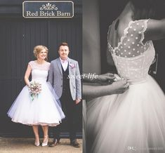 Vintage 1950's Tea Length Wedding Dresses 2016 Cap Sleeves Sheer Bateau Backless Pearls Sash Plus Size Spring Garden Wedding Bridal Gowns Online with $111.14/Piece on Sweet-life's Store | DHgate.com
