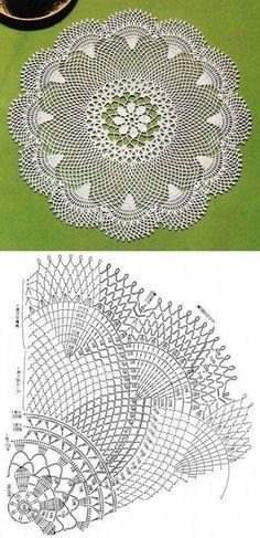 Selection of openwork napkins // Татьяна Саранина Crochet Doily Diagram, Crochet Doily Patterns, Crochet Mandala, Crochet Art, Crochet Home, Thread Crochet, Filet Crochet, Crochet Motif, Vintage Crochet