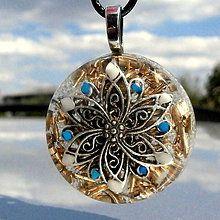 Náhrdelníky - ORGONIT *Květ štěstí*, Kv1 - 7183554_ Belly Button Rings, Christmas Bulbs, Holiday Decor, Jewelry, Jewlery, Christmas Light Bulbs, Jewerly, Schmuck, Jewels