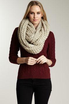 Paula Bianco  Chunky Knit Infinity Scarf