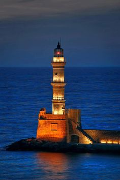 Lighthouse - Hania, Crete, Greece
