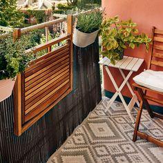 Tiny Balcony, Outdoor Balcony, Outdoor Spaces, Outdoor Decor, Balcony Furniture, Outdoor Furniture Sets, Getaway Cabins, Apartment Balconies, Cozy House