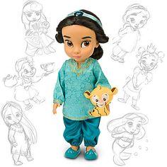 "DISNEY PARKS Princess Animators Collection 16/"" Inch Doll Figure JASMINE NEW NIB"