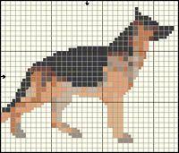 German Shepherd Dog Free Cross Stitch / Knitting Pattern
