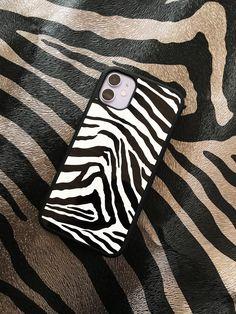 Zebra Print iPhone case, see our full range of animal print phone cases! Girly Phone Cases, Pretty Iphone Cases, Iphone Phone Cases, Iphone 6, Apple Iphone, Iphone 7 Plus, Airpods Apple, Apple Watch, Aesthetic Phone Case