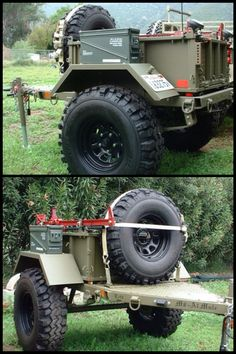 Military M8 off-road trailer. And would make a very nice rugged camp trailer.