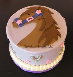 pink brown horse pony cake - Google Search