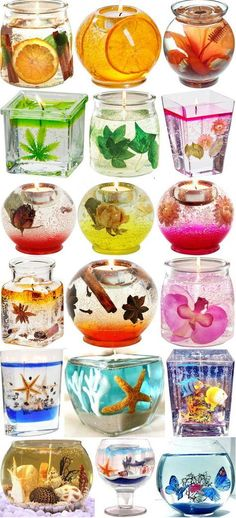 like this gel candles too Cheap Candles, Gel Candles, Scented Candles, Creation Bougie, Candle Art, Candlemaking, Homemade Candles, Potpourri, Crafts To Make