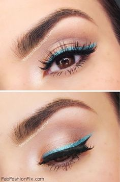 to wear turquoise eyeliner for summer makeup routine? -How to wear turquoise eyeliner for summer makeup routine? - Beautiful 😍 By: Then & Now Eyeshadow Palette - Cheers to 20 Years Collection - Too Faced Makeup Goals, Love Makeup, Makeup Inspo, Makeup Inspiration, Beauty Makeup, Makeup Ideas, Perfect Makeup, Makeup Tutorials, Easy Makeup Looks